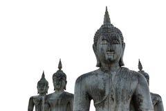 Тайские старые статуи Будды с солнечным светом в утре Стоковая Фотография RF