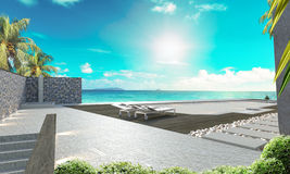 Тайские стена и настил стиля стоковое фото rf