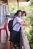 Тайские студенты Стоковые Фото