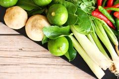 Тайские травы и специи супа Тома Яма стоковые фото