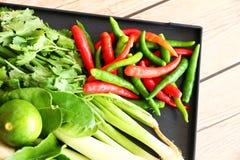 Тайские травы и специи супа Тома Яма стоковое фото