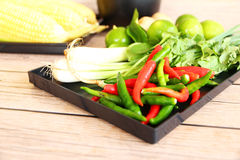 Тайские травы и специи супа Тома Яма стоковое фото rf