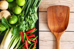 Тайские травы и специи супа Тома Яма стоковая фотография