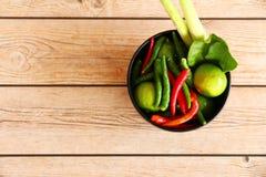 Тайские травы и специи супа Тома Яма стоковые изображения
