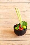 Тайские травы и специи супа Тома Яма стоковое изображение rf