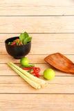 Тайские травы и специи супа Тома Яма стоковые фотографии rf