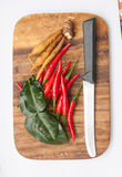 Тайские травы супа батата Tom Стоковая Фотография RF