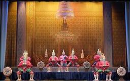 Тайские традиционные танцы барабанчика Стоковая Фотография