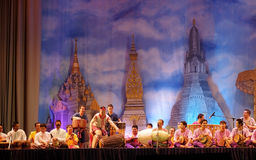 Тайские традиционные танцы барабанчика Стоковые Фото