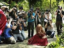 Тайские фотографы стоковое изображение rf