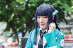 Тайские cosplayers одевают как характеры от шаржа и игры в festa Японии в Бангкоке Стоковое фото RF
