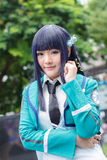 Тайские cosplayers одевают как характеры от шаржа и игры в festa Японии в Бангкоке Стоковая Фотография