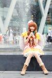 Тайские cosplayers одевают как характеры от шаржа и игры в festa Японии в Бангкоке Стоковые Изображения RF
