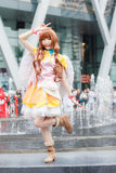 Тайские cosplayers одевают как характеры от шаржа и игры в festa Японии в Бангкоке Стоковые Фотографии RF