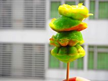 Тайские pandan десерты Стоковое Фото