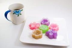 Тайские sweetmeat и кофе Стоковые Изображения