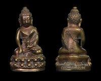 Тайский антиквариат талисман, Pu Kham Phra Kring Luang поет Wat Singharintaram стоковая фотография