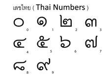 Тайский алфавит Стоковые Фото