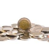 Тайский бат, деньги, тайская монетка Монетки денег тайские & x28; bath& x29; лестница Стоковое Фото