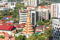 Тайский буддийский висок в Penang, Малайзии Стоковые Фото