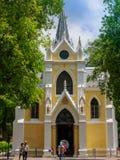 Тайский буддийский висок который имеет уникально дизайн с нео готической архитектурой которое передразнивает христианскую церковь Стоковая Фотография RF