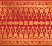 Тайский вектор картины предпосылки искусства Стоковые Фото