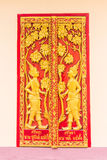 Тайский висок двери, ангел на двери Стоковое фото RF