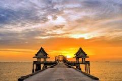 Тайский висок в море Стоковая Фотография RF