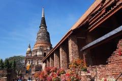 Тайский висок в ayuttaya Стоковые Фото