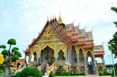 Тайский висок на Samut Prakan Стоковые Изображения