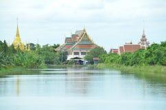 Тайский висок на Samut Prakan Стоковая Фотография RF
