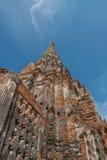 Тайский висок, на wat Chaiwatthanaram, Ayutthaya Стоковые Фото