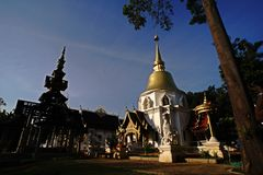 Тайский висок, ChiangMai северный Таиланд Стоковые Фото