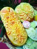 Тайский высекая плодоовощ Стоковые Фотографии RF