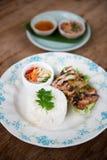 Тайский гриль chciken с рисом жасмина Стоковые Фотографии RF