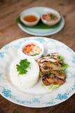 Тайский гриль chciken с рисом жасмина Стоковая Фотография RF