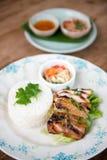 Тайский гриль chciken с рисом жасмина Стоковое Изображение