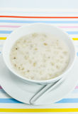 Тайский десерт, пшена с молоком кокоса Стоковое фото RF