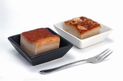 Тайский десерт традиции, тайские квадраты заварного крема кокоса стоковое изображение