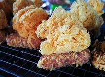 Тайский десерт Khao Mao Tod стоковая фотография rf