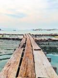 Тайский деревянный мост Стоковое Изображение RF