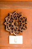 Тайский деревянный стиль стоковое изображение
