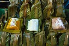 Тайский десерт в market Бангкоке. Стоковая Фотография