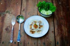 Тайский десерт: Испаренные вареники Рис-кожи и свинина тапиоки Стоковые Изображения