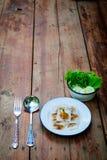 Тайский десерт: Испаренные вареники Рис-кожи и свинина тапиоки Стоковая Фотография