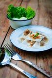 Тайский десерт: Испаренные вареники Рис-кожи и свинина тапиоки Стоковые Изображения RF