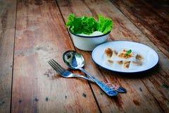 Тайский десерт: Испаренные вареники Рис-кожи и свинина тапиоки Стоковая Фотография RF