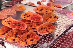 Тайский десерт или тайский блинчик Стоковое Фото