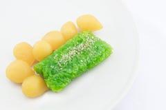 Тайский десерт на белой предпосылке стоковые изображения rf