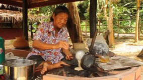 тайский десерт Пак-mor сток-видео